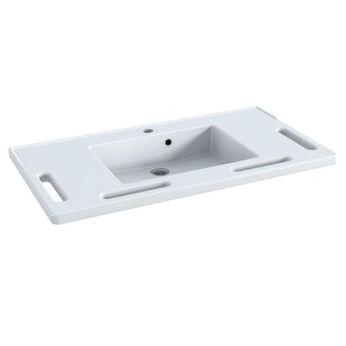 LARGE vanity sink with integrated grab handles