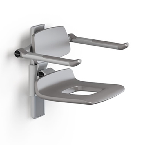 PLUS shower seat 450 with aperture, with back- and armrests