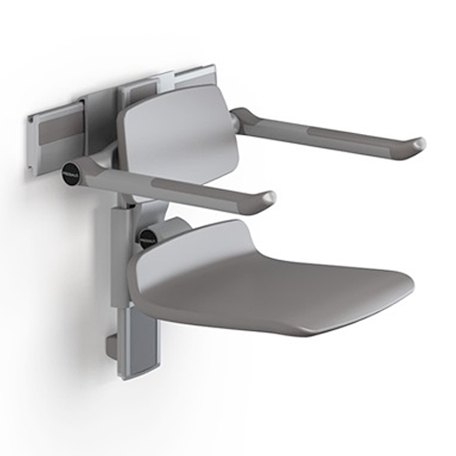 PLUS shower seat 450, with back- and armrests