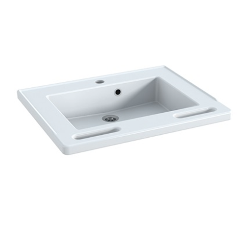 SMALL, sink with integrated grab handles